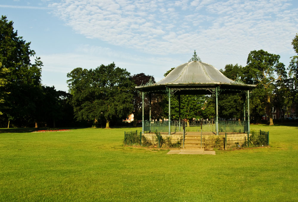 The band stand in Abington Park. Credit: Shutterstock.