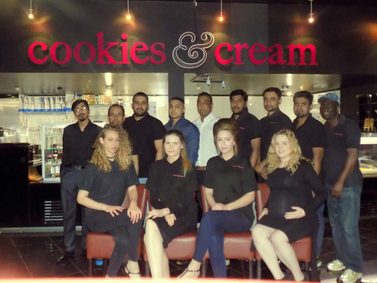 Cookies and cream Northampton team