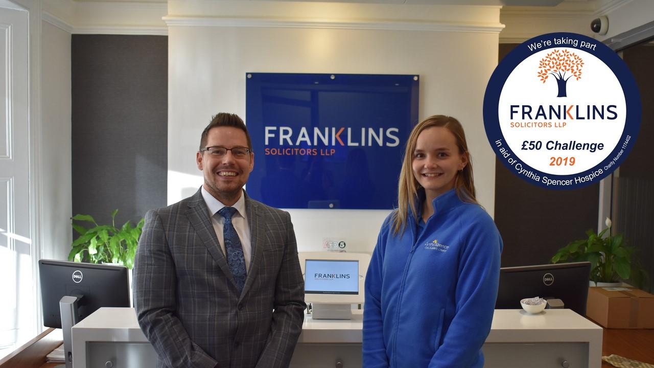 Franklins £50 Challenge 2019 launch photo